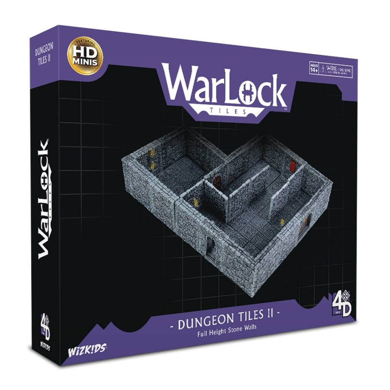 Warlock Dungeon Tiles II: Full Height Stone Walls