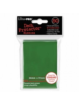 Ultra pro : Deck protector 50 sleeves dos vert