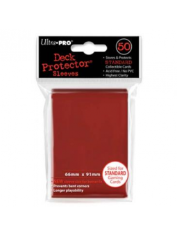 Ultra pro : Deck protector 50 sleeves dos rouge