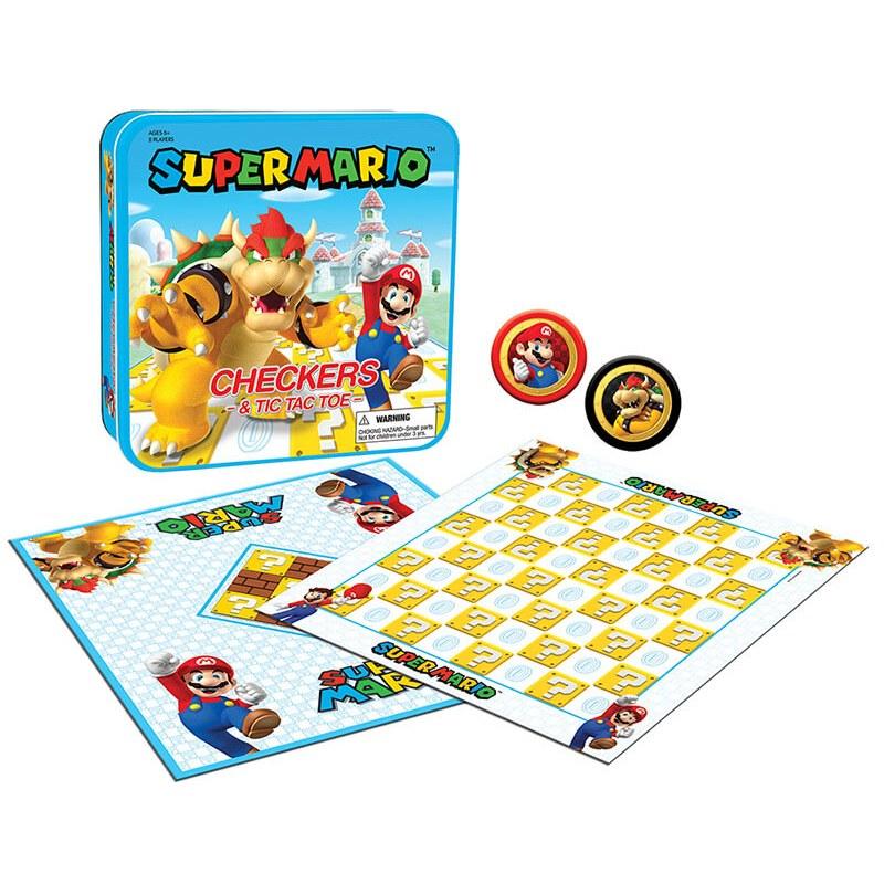 Super Mario™ vs Bowser Checkers & Tic Tac Toe
