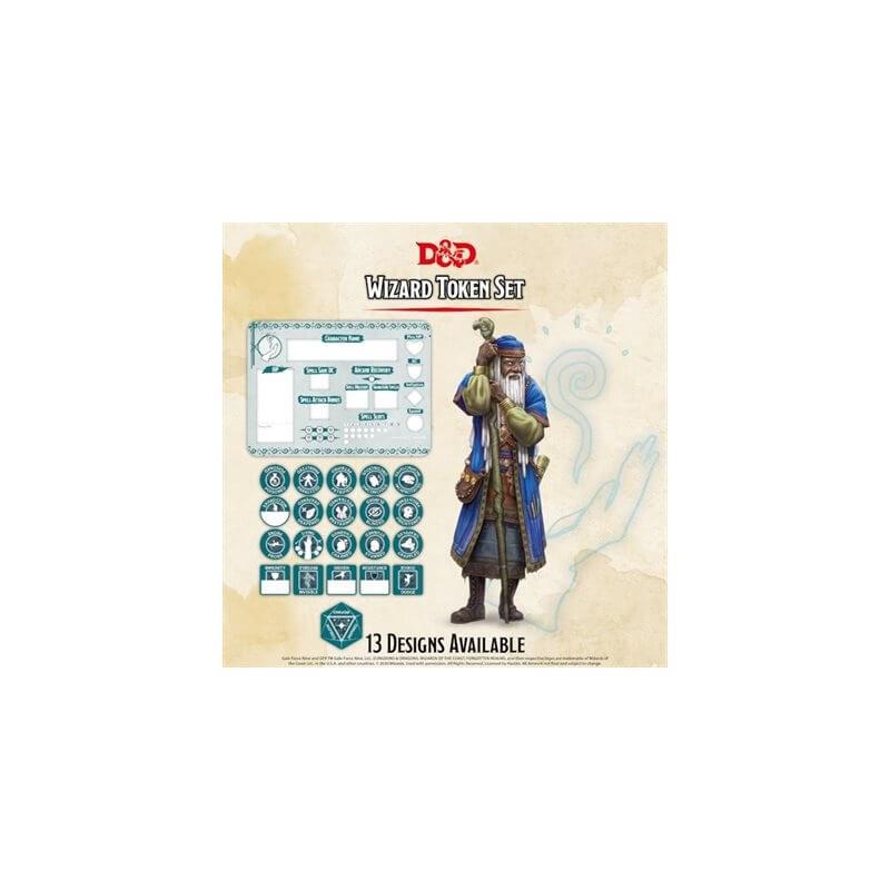 Dungeons & Dragons: Wizard Token Set (Player Board & 22 tokens)