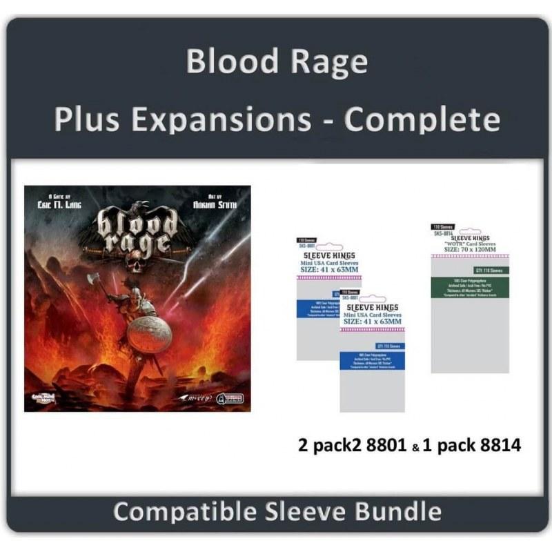 Sleeve Bundle Blood Rage / Expansions Complete