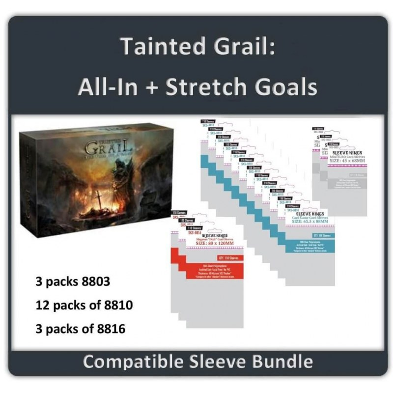 Sleeve Bundle Tainted Grail All in / Stretch Goal