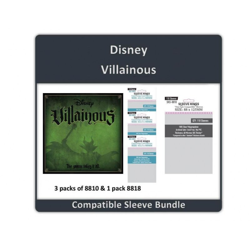 Sleeve Bundle Disney Villainous