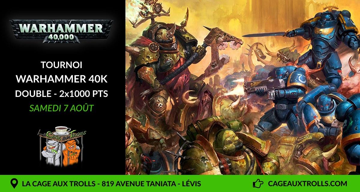 Tournoi Warhammer 40k en double 2000pts - 7/08/21