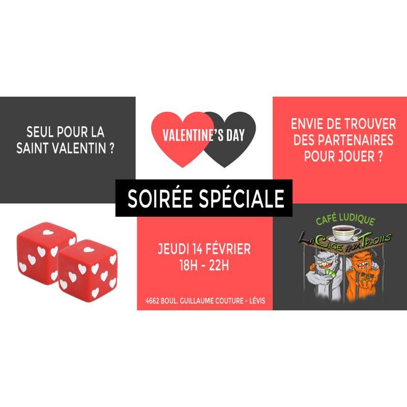 Soirée Saint Valentin spéciale célibataires à Lévis