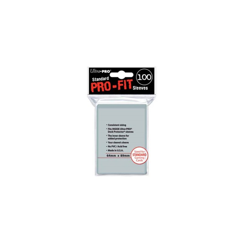Ultra pro : Standard pro-fit 100 sleeves transparents