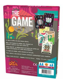 jeu de carte The Game haut en couleur