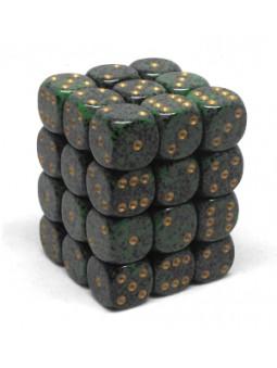 Brique de 36 d6 12mm picotés ''Golden Recon''
