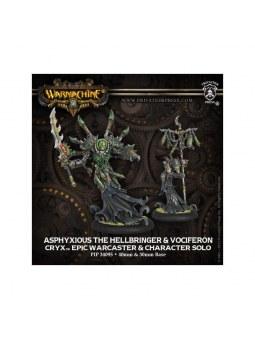 Cryx Asphyxious Hellbringer Epic & Vociferon Warcaster Solo
