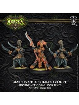 Skorne Makeda & Exalted Court Epic Warlock Unit