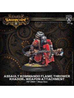 Khador Assault Kommando Flame Thrower weapon attachment warmachine