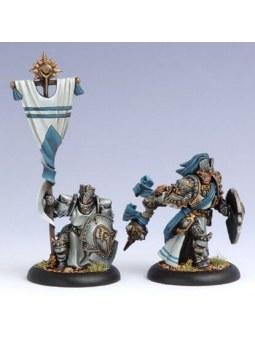 Cygnar Allies Precursor Knights Officer & Standard