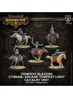 Cygnar Arcane Tempest Cavalry Unit