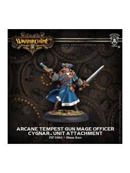 Cygnar Arcane Tempest Gun Mage Officer