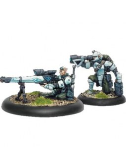Retribution Heavy Rifle Team Weapon Crew warmachine