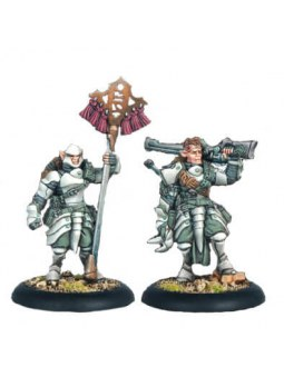 Retribution Houseguard Rifleman Officer & Standard warmachine