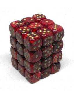 Brique de 36 d6 12mm Vortex Bourgogne avec points dorés
