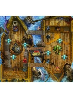 Riot Quest Hullgrinder Pirate Ship Fabric Playmat