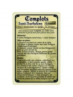 Complots Saint Barthelemy règles