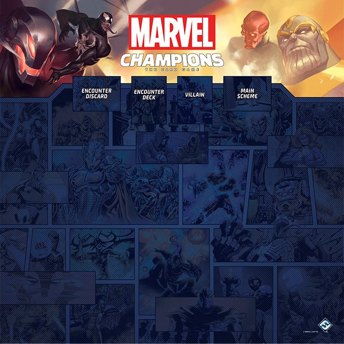 Marvel Champions The Card Game: 1-4 Player Game Mat