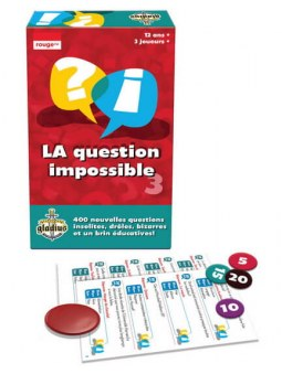 La Question Impossible volume 3 jeu