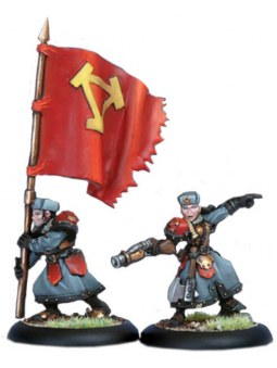 Khador Winter Guard Officer & Standard