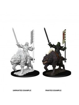 Pathfinder Minis Orc On Dire Wolf