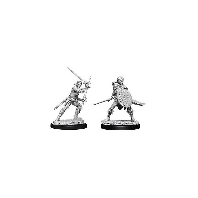 Pathfinder Minis Female Elf Fighter