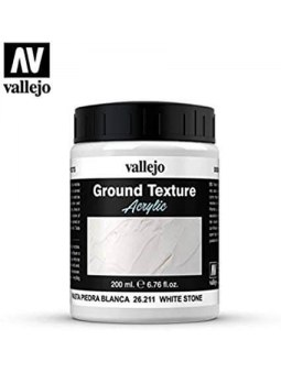 Vallejo: Diorama Ground Text White Stone Paste 200ml