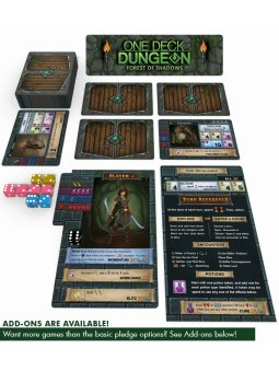 One Deck Dungeon: Forest of Shadows contenu