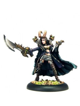 Cryx Pirate Queen Skarre Warcaster warmachine