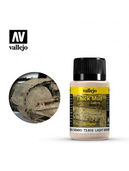 Vallejo Weathering Light Brown Thick Mud (40ml)