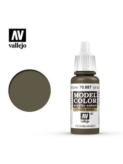 Vallejo: Model Color Matt Us Olive Drab (17ml)