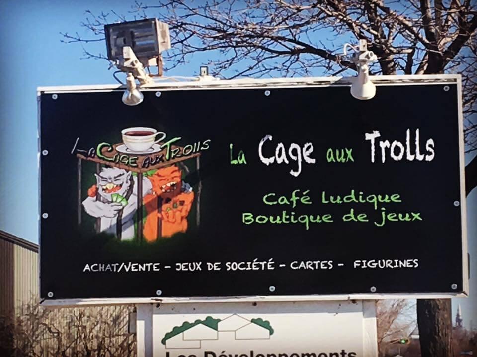 Café la Cage aux Trolls jeux sur place