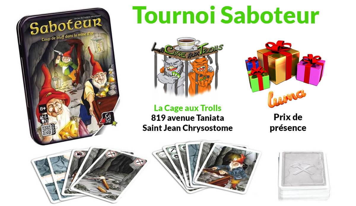 Tournoi Saboteur Lévis