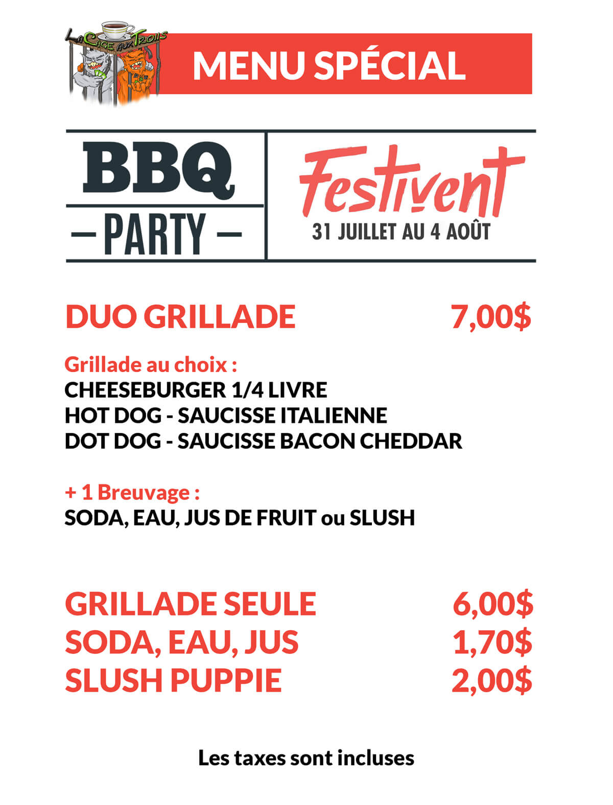 Barbecue Festivent 2019