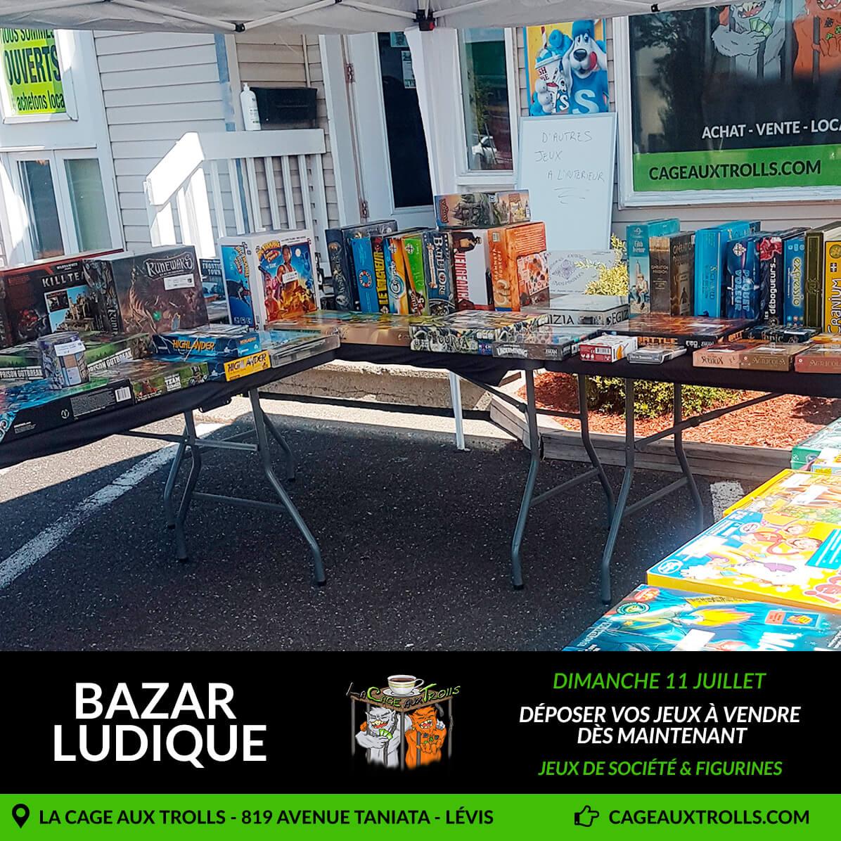 Bazar ludique le 11 juillet à Lévis