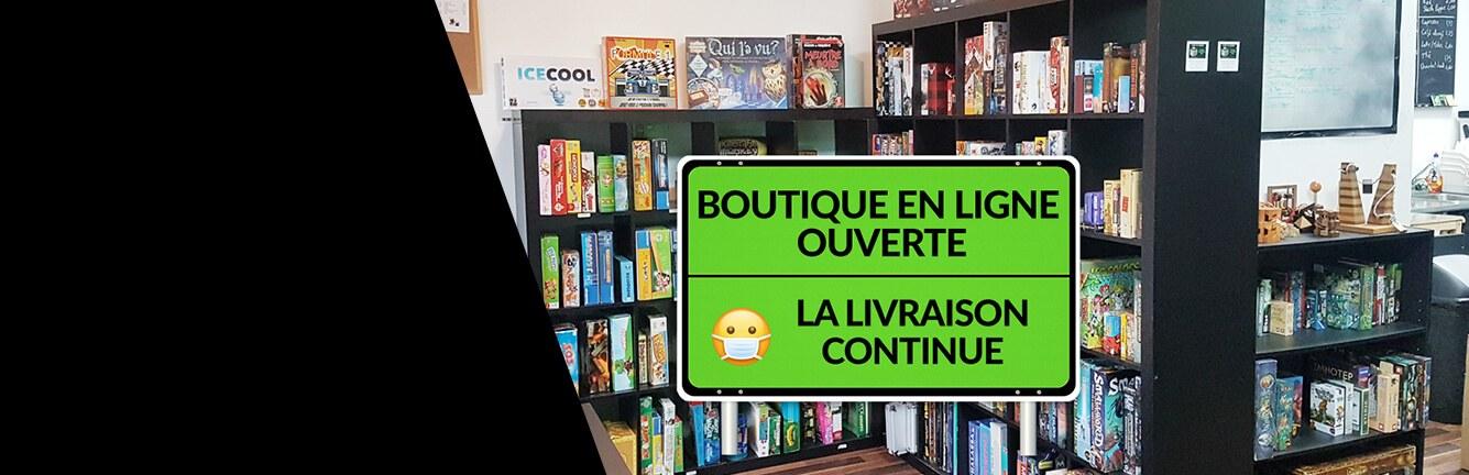 Boutique en ligne de jeux ouverte confinement