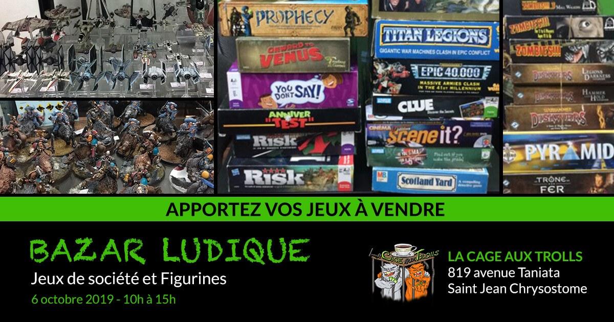 Bazar jeux Lévis Octobre 2019