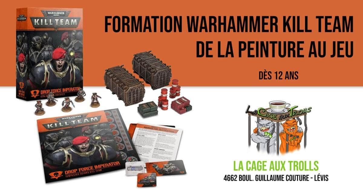 Cours de peinture Warhammer Kill Team à Lévis