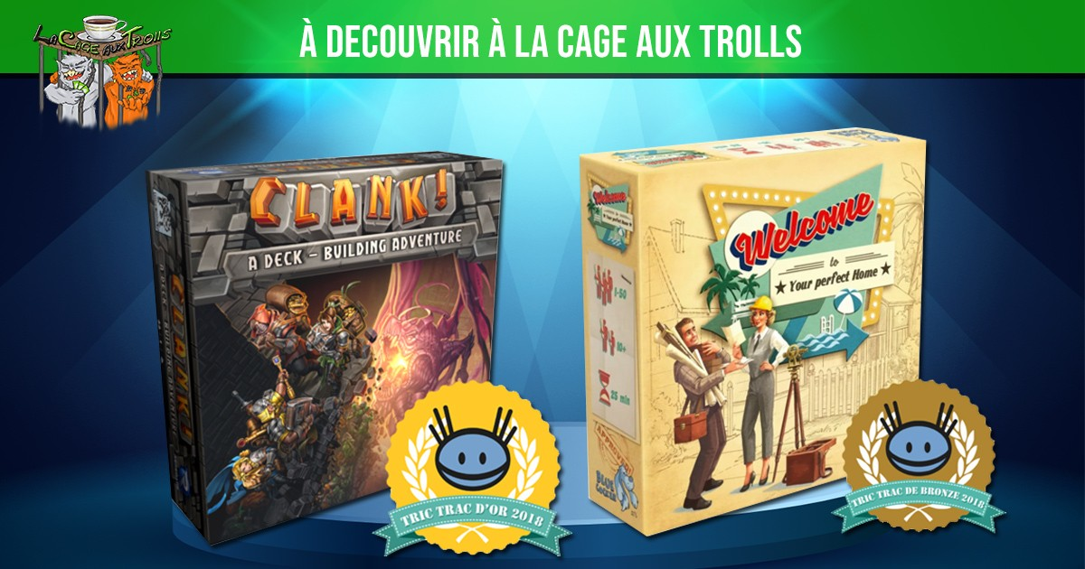 Jeux Clank et Welcome to - Prix Tric Trac 2018